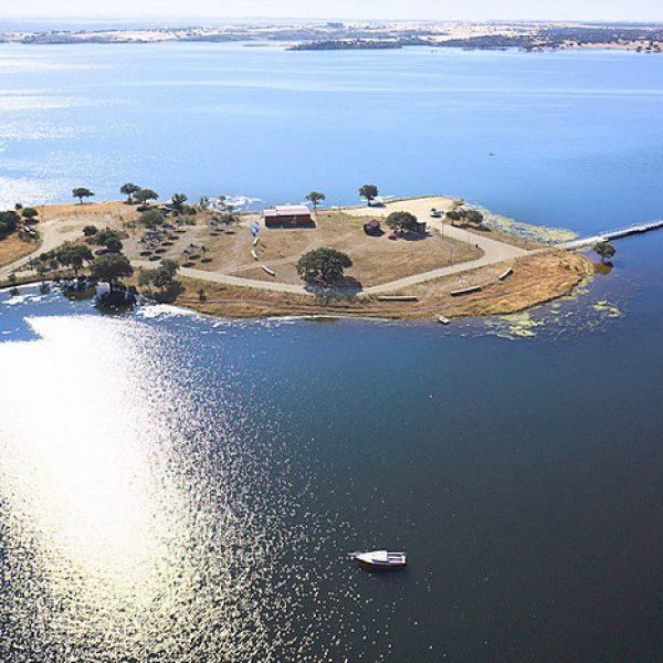 Vista aérea do Lago Alqueva